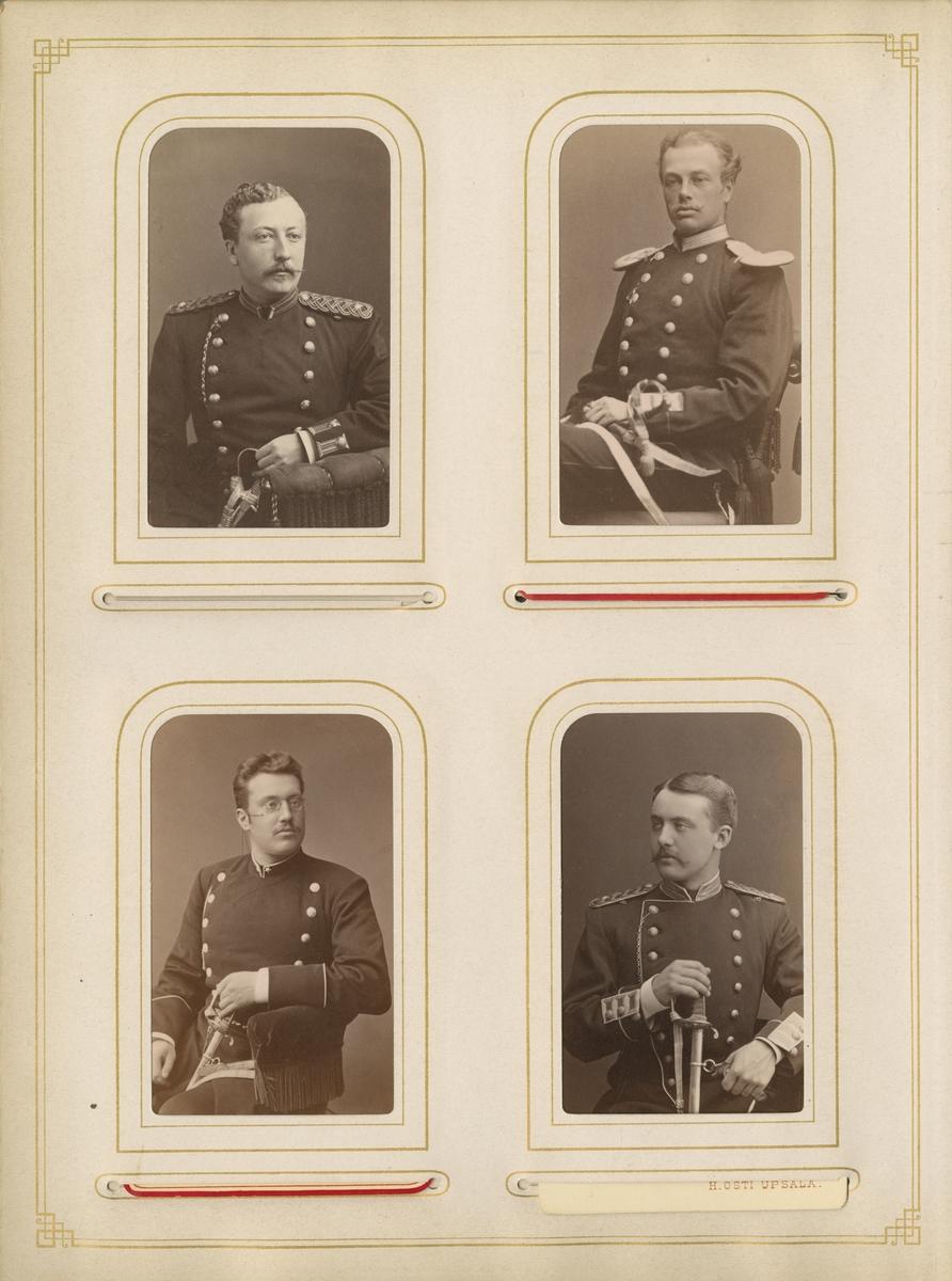 Porträtt av Gustaf Harald Svanström, underlöjtnant vid Livregementets grenadjärkår K 3.  Se även bild AMA.0021768.