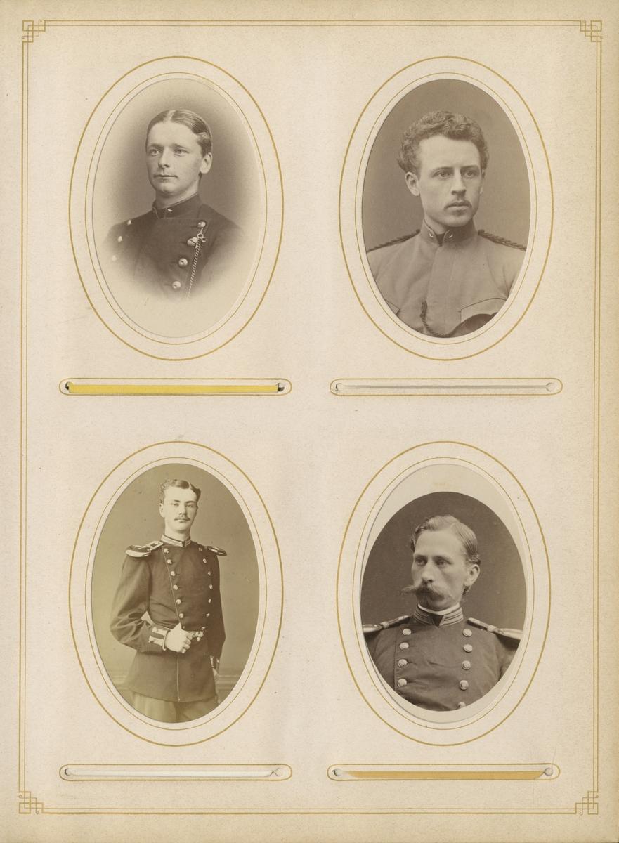 Porträtt av Carl Bror Skogman Munck af Fulkila, underlöjtnant vid Jönköpings regemente I 12.  Se även bild AMA.0008036.