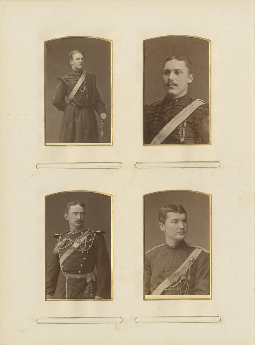Porträtt av Samuel Ferdinand Arsenius, underlöjtnant vid Livregementets husarkår K 3.