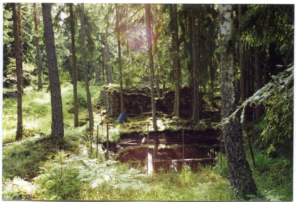 Lillhärad sn, Västerås. Toftgruvan. Gruvhål vid Toftberget. 1994-1995.