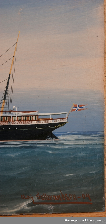 Skipsportrett av D/S Kong Olaf