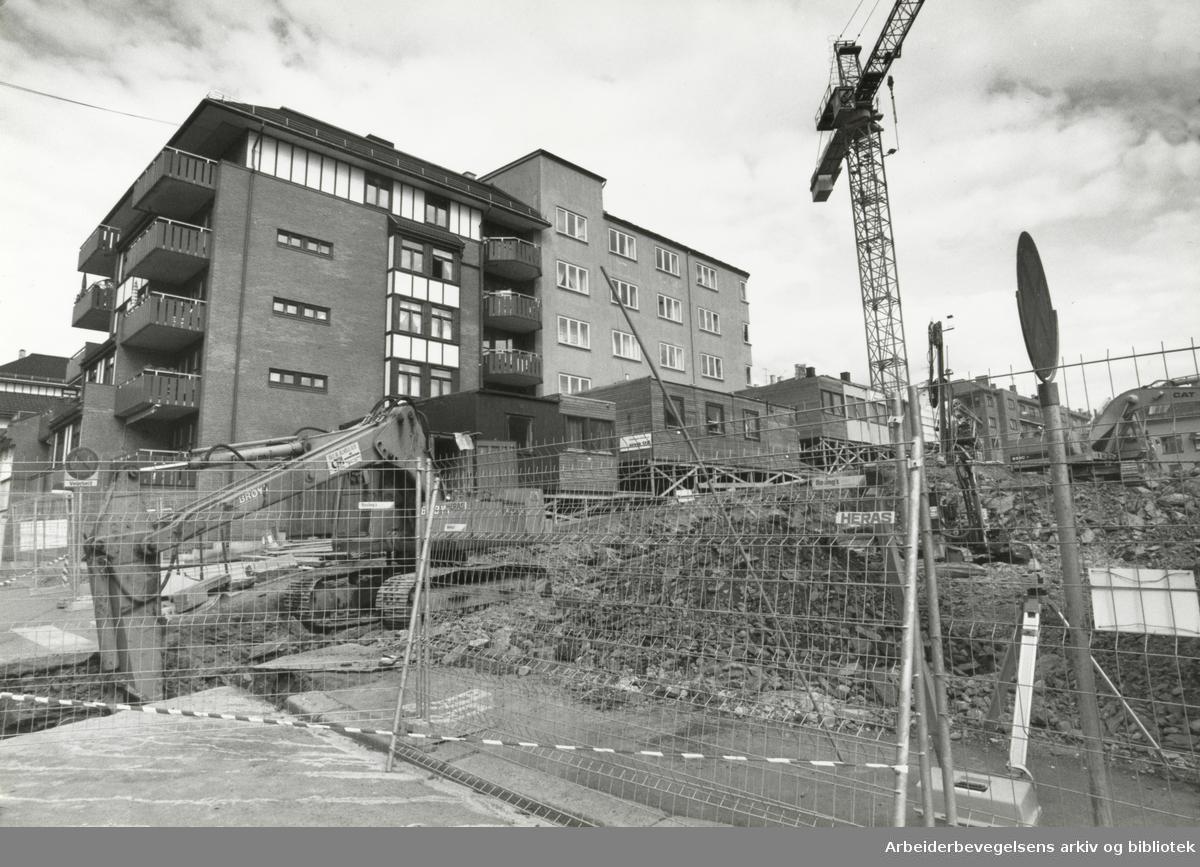 Kampen. Norderhovsgata. September 1990