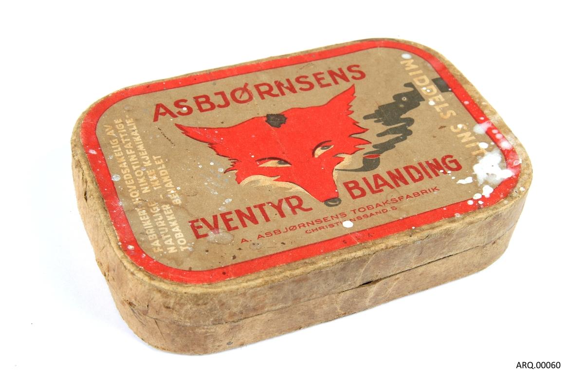 """Eske med Asbjørnsens """"Eventyrblanding"""" tobakk."""