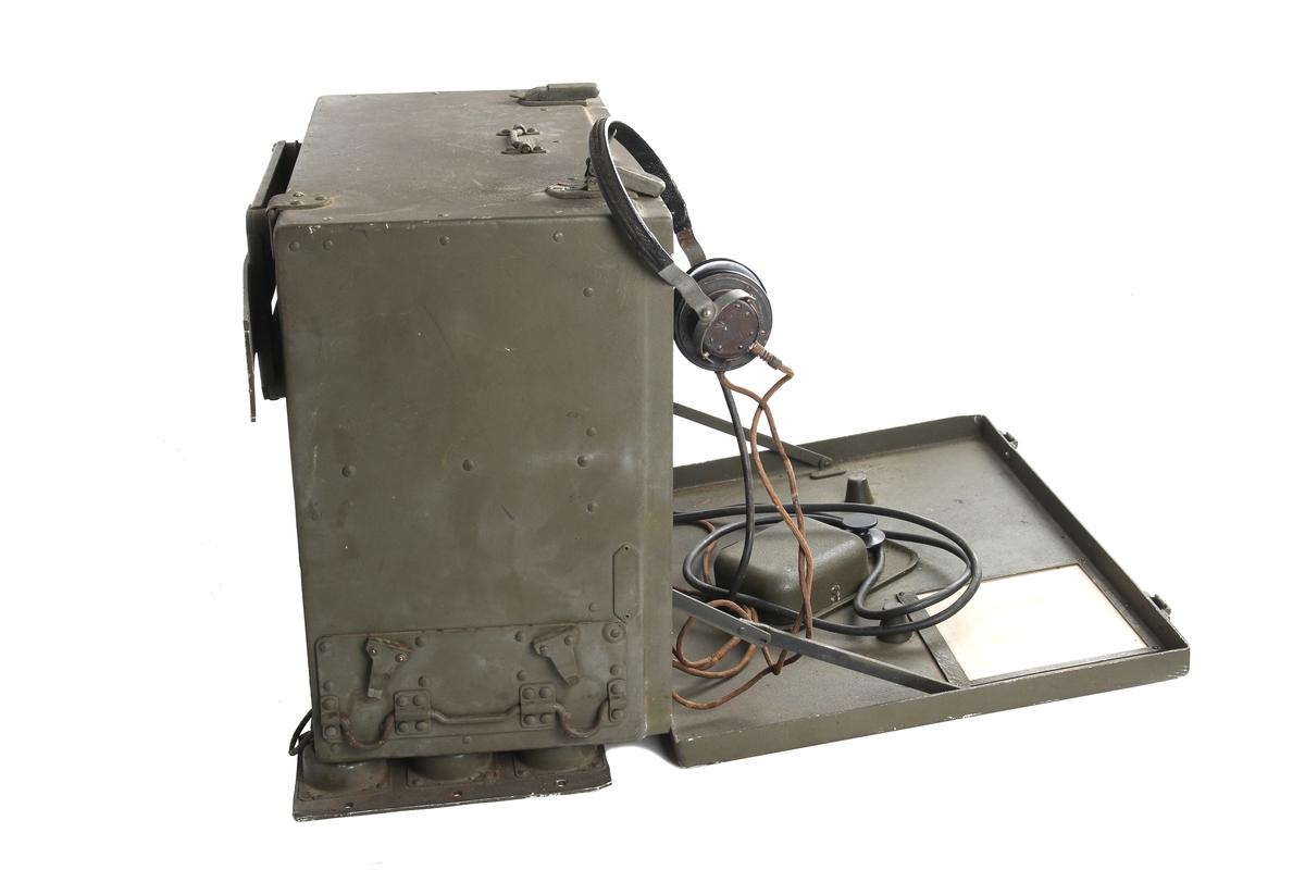 Telefonimottaker med høytaler og telefonrør.