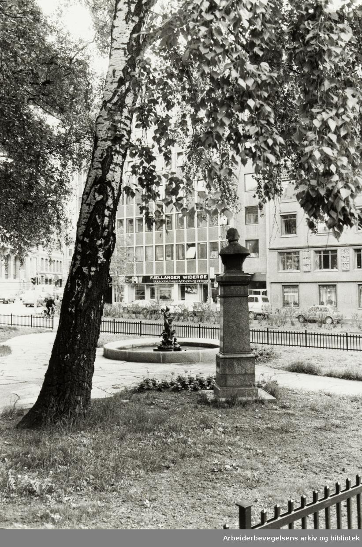 Kjerulfs plass. Mai 1984