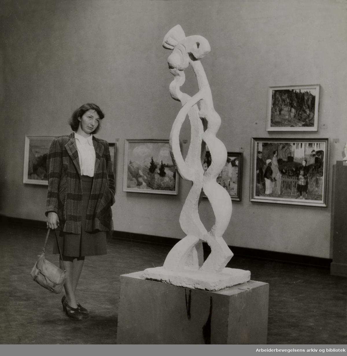Kunstnernes Hus. Stipendiesøkernes utstilling. 1947