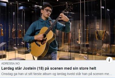 1910_Jostein_Hodne_gitar_Adressa.JPG. Foto/Photo