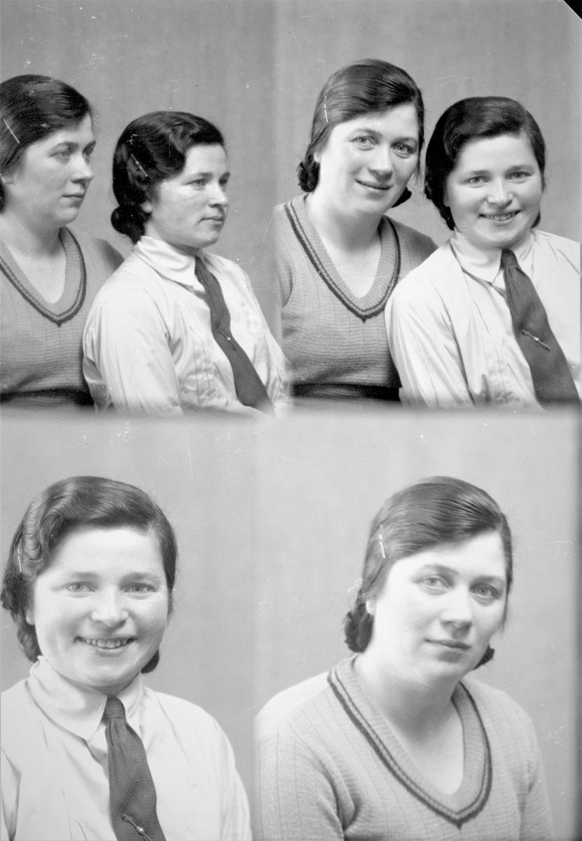 Portrett. To unge kvinner. Bestilt av Frk Gjertud og Serine Helgesen