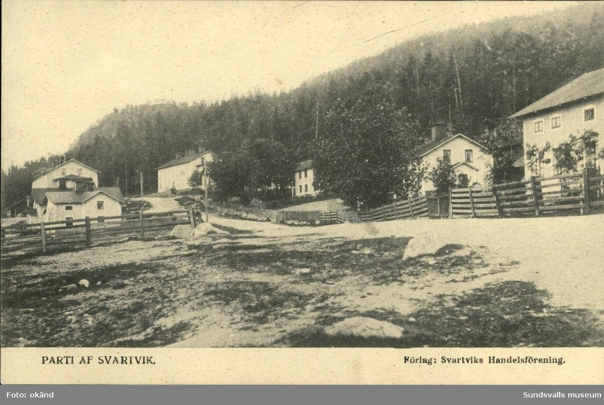Vykort med motiv över Svartvik.
