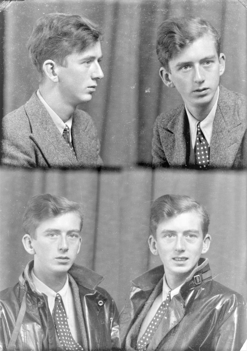 Portrett. Ung mann. Bestilt av Hr. Lervik
