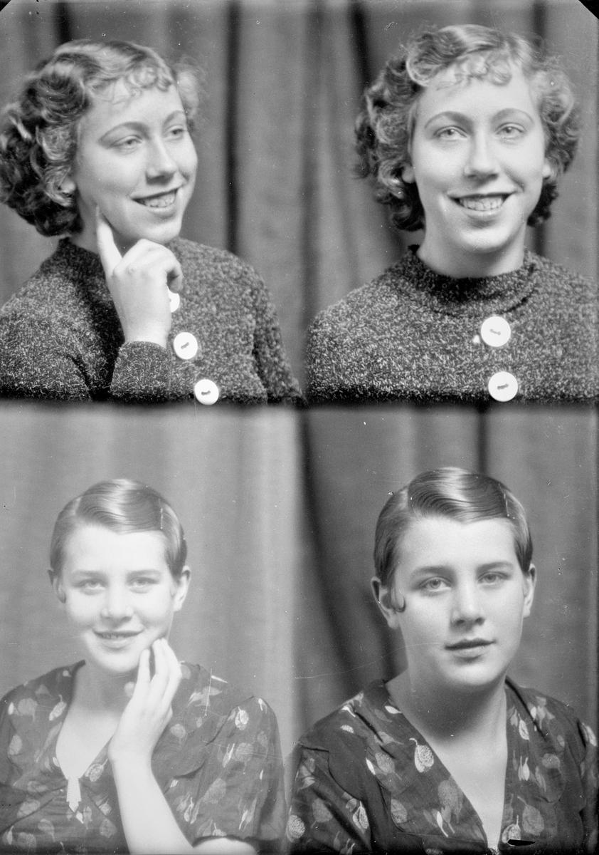Portrett. To unge kvinner. Bestilt av Frk Alfhild Larsen + Signe Toft