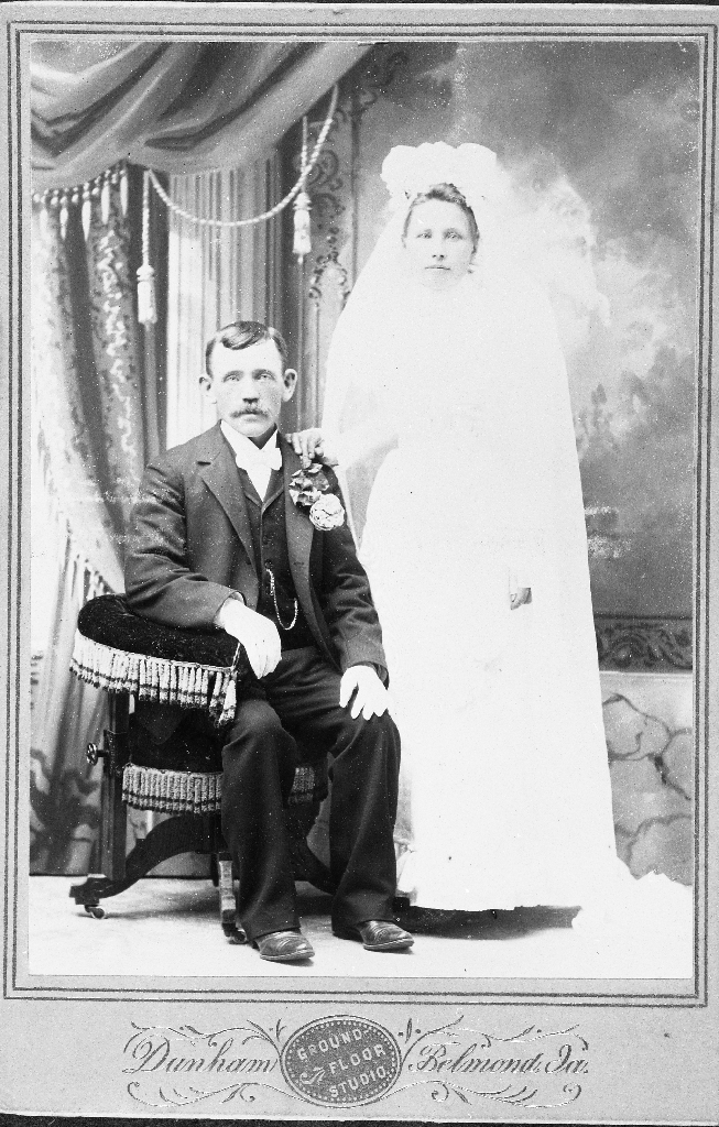 Brudepar frå USA. Ukjende