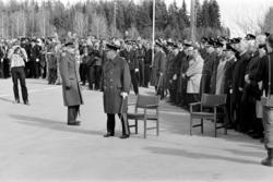 Kong Olav, Midtskogen Elverum, minnestund, kransenedleggelse
