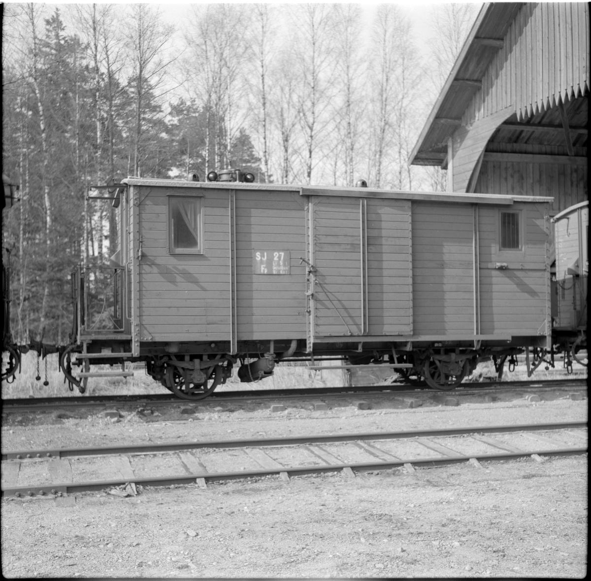 Statens Järnvägar, SJ Fp 27 resgodsvagn.
