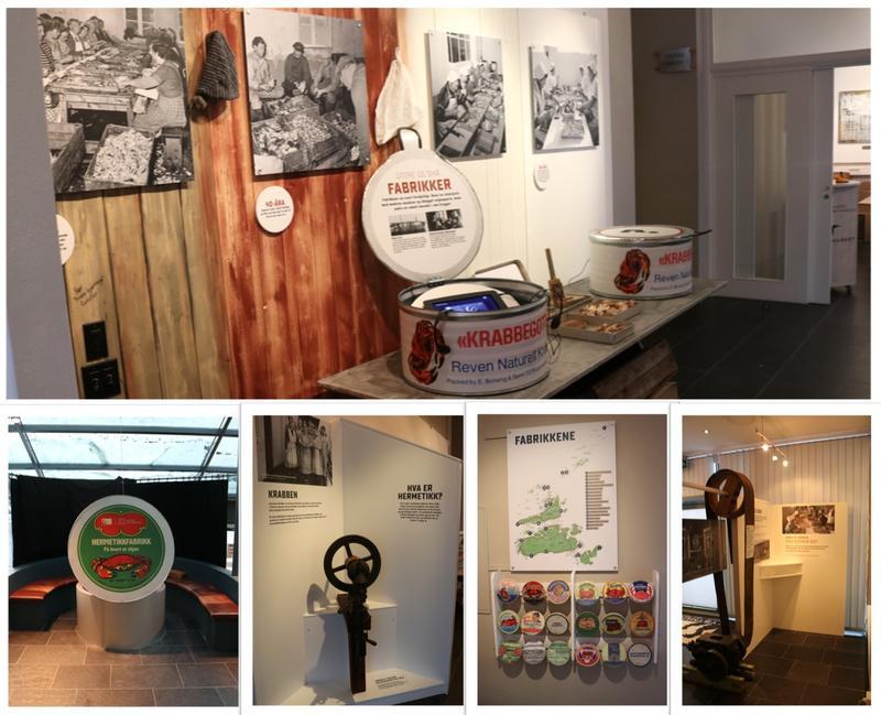 Utstillinga kan besøkes på museumsbygget på Fillan, og inneholder både maskiner, bilder, etiketter og videoer fra den omfattende hermetikkindustrien. (Foto/Photo)