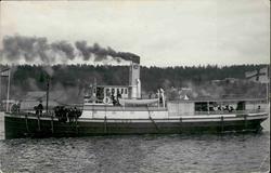 Vykort med motiv över ångbåten Timrå.