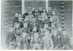 Norrby sn, Sala, Ölsta. Skolkort från Ölsta skola, c:a 1890