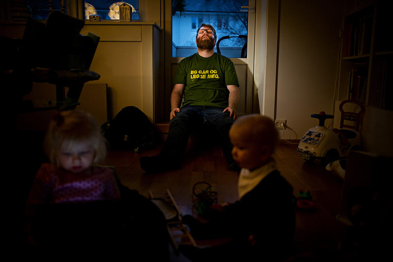 André Løyning ikledd Tønes-skjorte. Foto: selvportrett. (Foto/Photo)