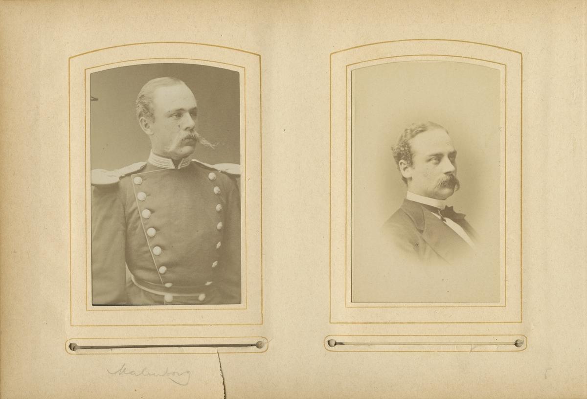 Porträtt av Karl Fredrik von Malmborg, officer vid Andra livgrenadjärregementet I 5.  Se även bild AMA.0005557, AMA.0008068 och AMA.0009530.