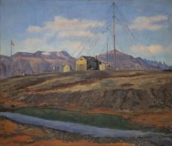 Myggbukta, Eirik Raudes land, Grønland [Oljemaleri]