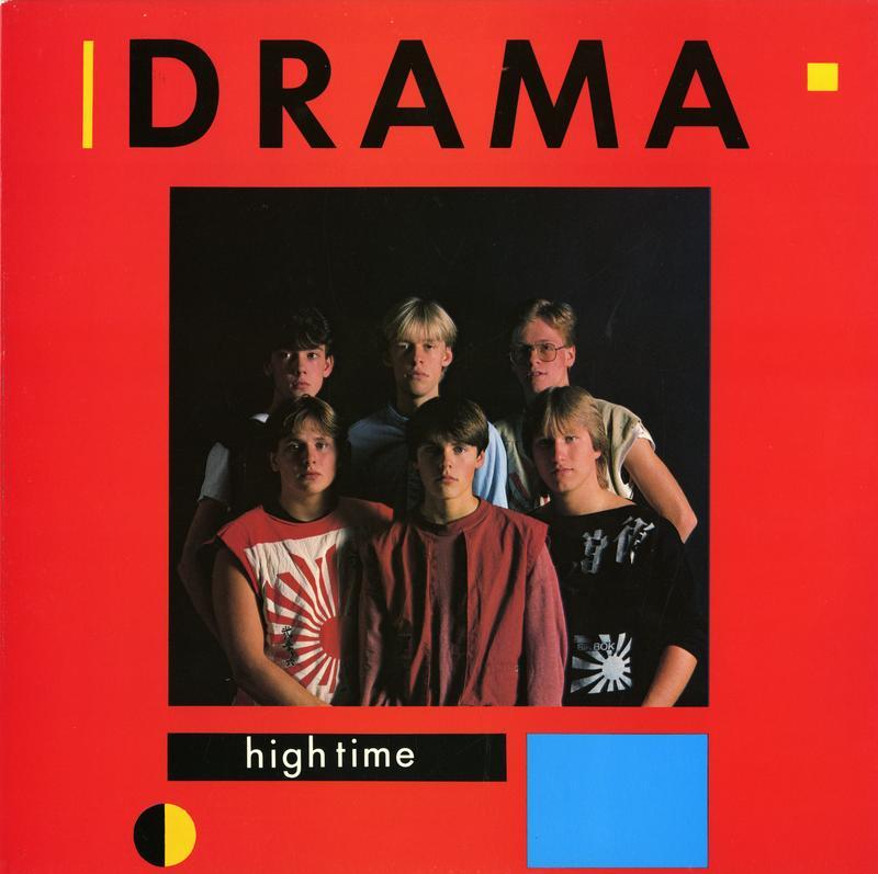 Dramas andre utgivelse High Time kom i 1983 og ble bandets mestselgende album. F.v Thomas Siqveland, Per Arne «Perry» Strandbakken, Per Kristian «Muffe» Indrehus, Gunnar «Stikka» Refsdal, Geir Olav «Gækki» Bøkestad og Ole Jan «Ollie» Rimstad