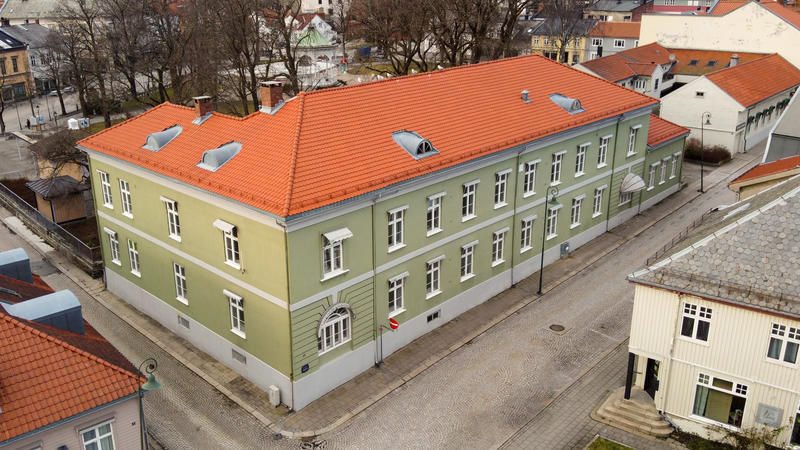 Fayegården sett fra fasaden ut mot Svenskegata