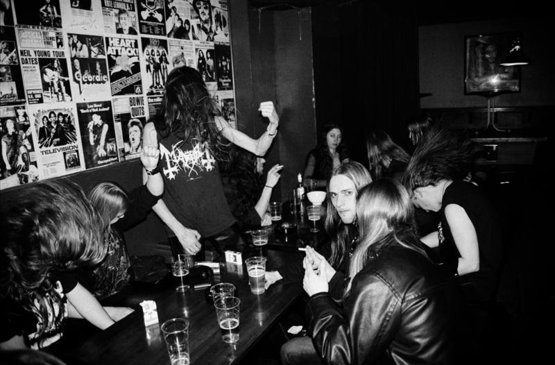 Black metal fans at Elm Street Pub, Oslo 2005