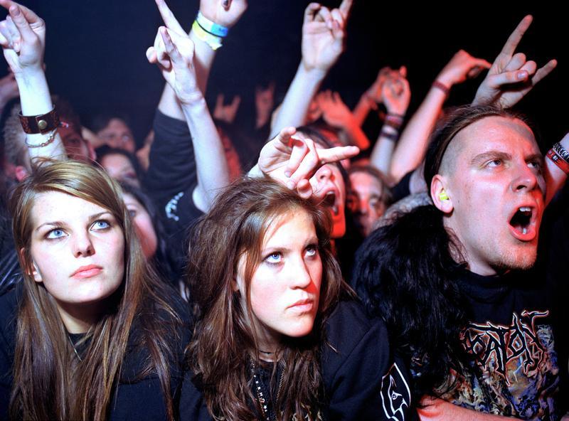 Black metal fans at Emperor concert, Oslo 2005 (Foto/Photo)