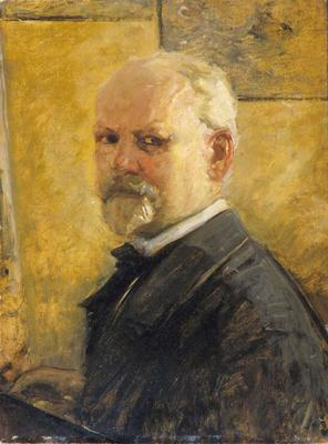 Selvportrett av Oscar Wergeland. Malt ca. 1900. Oslo museum. (Foto/Photo)