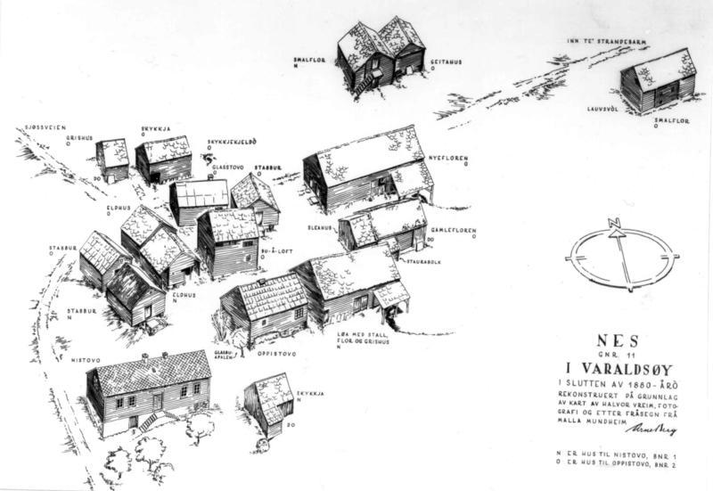 Slik kan tunet på Nes havretten ut, ca. 1880. (Foto/Photo)