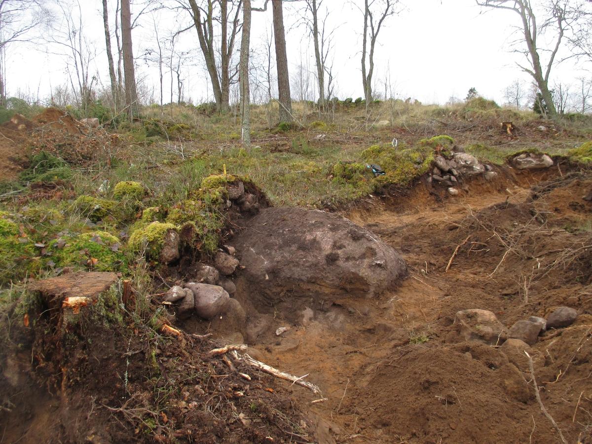 Röjningsröse A304 undersökt vid arkeologisk förundersökning i Nykyrka socken Mullsjö kommun