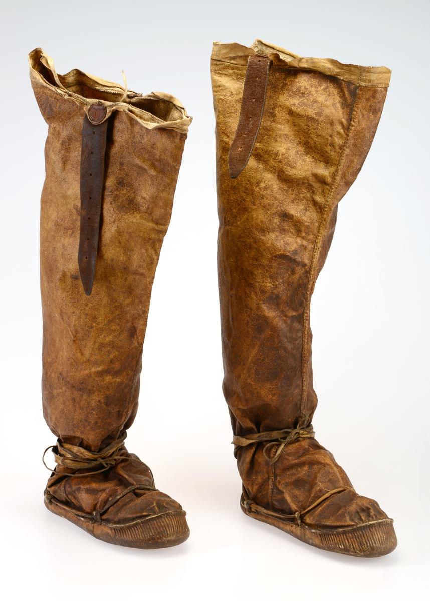 Støvler Sverresborg Trøndelag Folkemuseum DigitaltMuseum