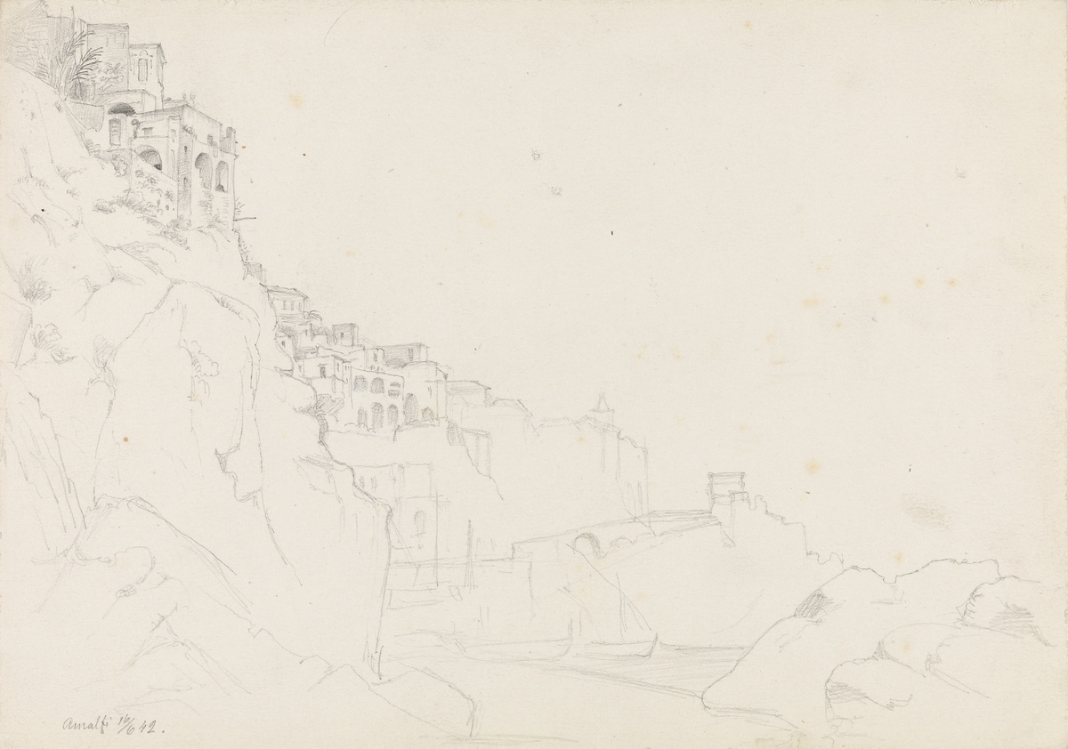 Fra Amalfi [Tegning]