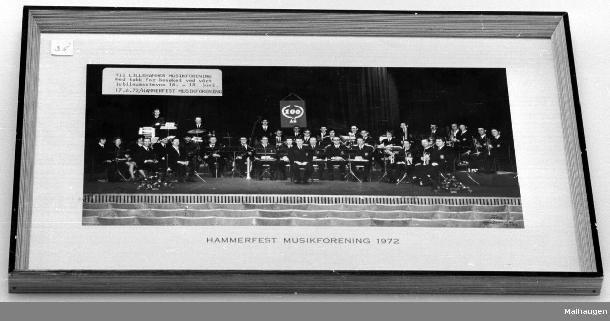 Gruppebilde av Hammerfest Musikforening i 1972.