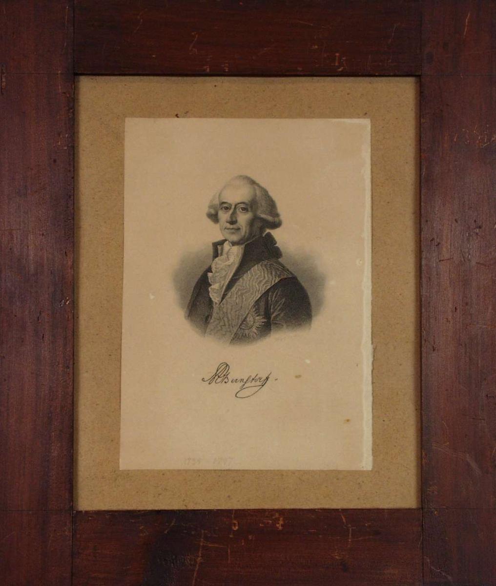 Portrett av A.Bernstorft.