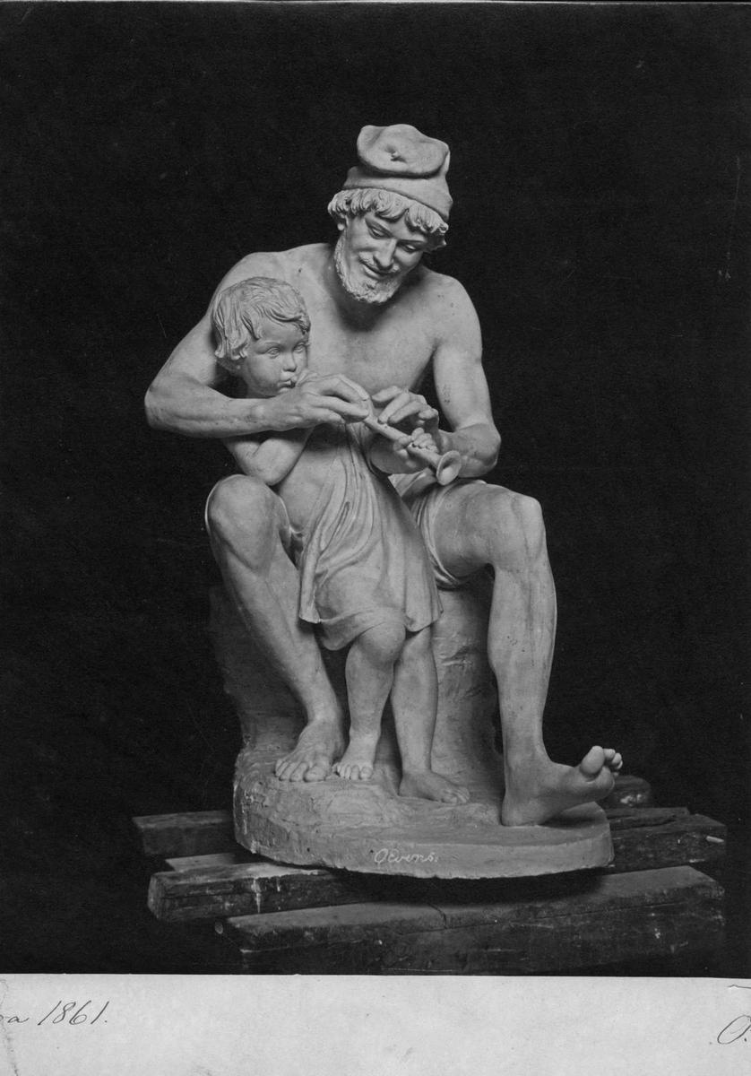 Trykk, skulptur,