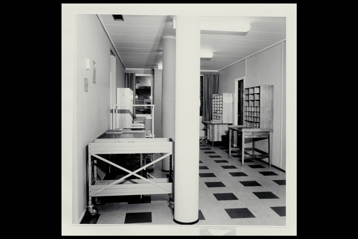 interiør, postkontor, 5200 Os, budavdeling, sortering