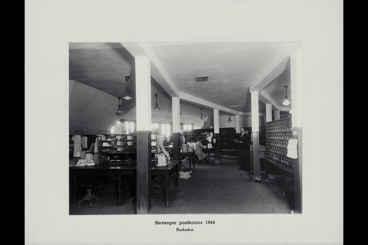 interiør, postkontor, 4001 Stavanger, budavdelingen, sortering, personale