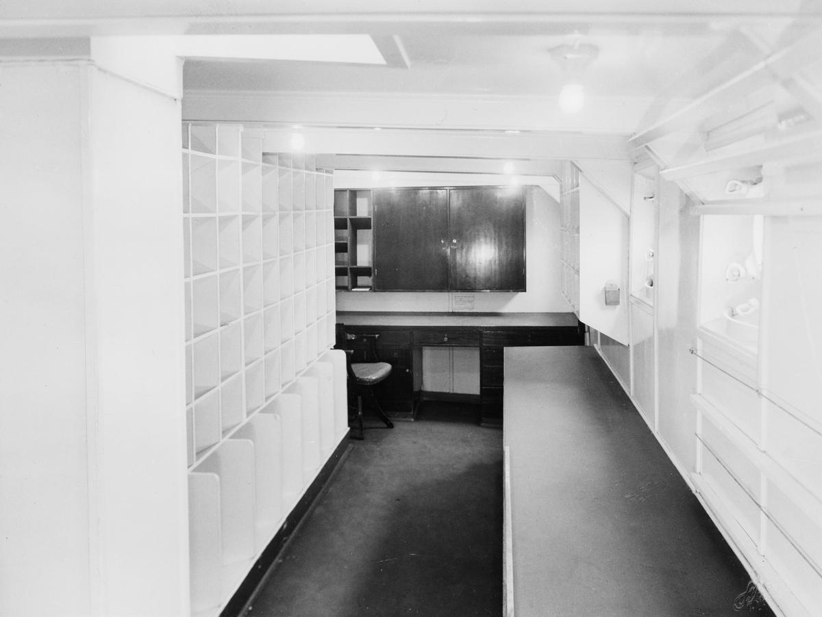 transport båt, interiør, D/S Finnmarken, postlugar