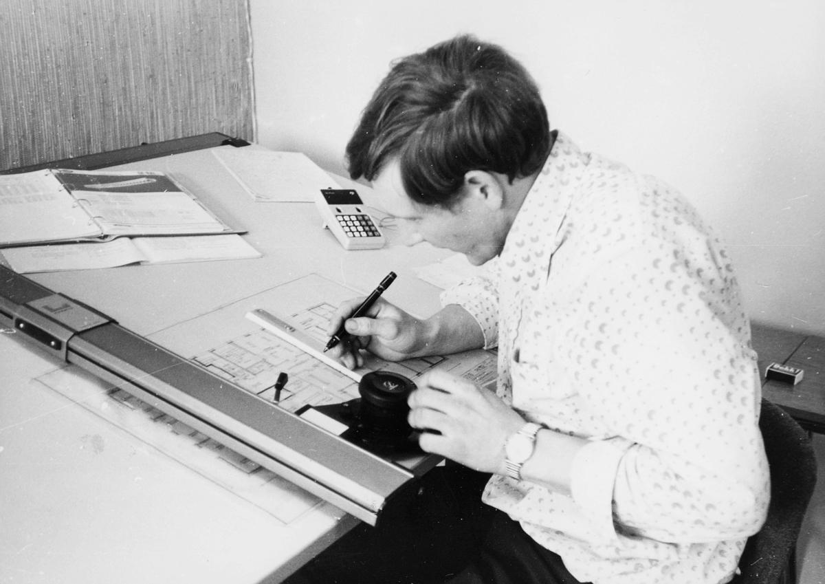 personale, 6. postdistrikt, distriktskontoret, mann, tegner
