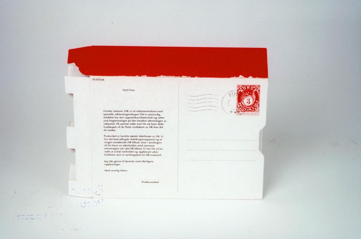 Postmuseet, gjenstander, arkivholder, strøartikkel fra Posten TII/960.