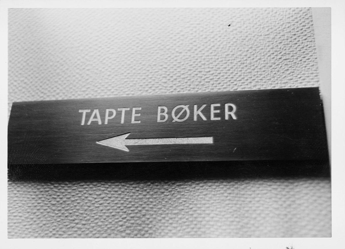 postsparebanken, Akersgata 68, Oslo, 25-års jubileum, 1975, interiør, skilt