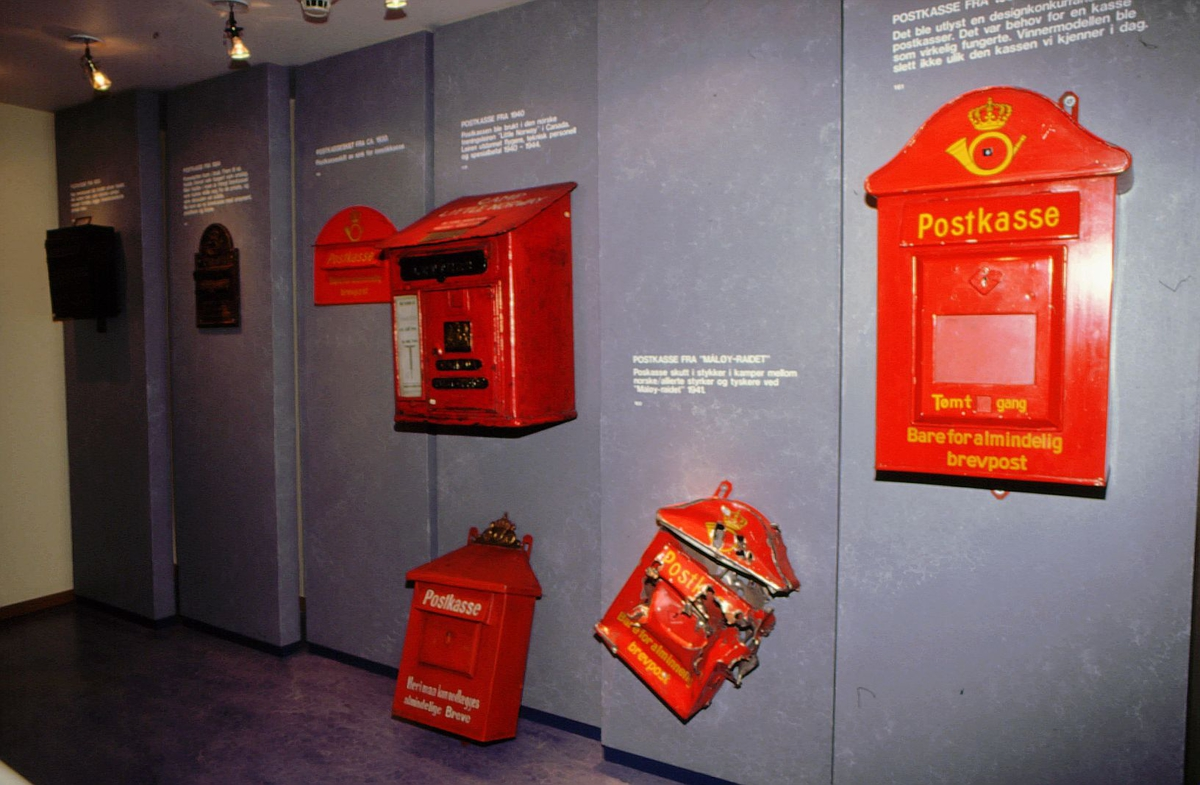 postmuseet, Kirkegata 20, utstilling, postkasser