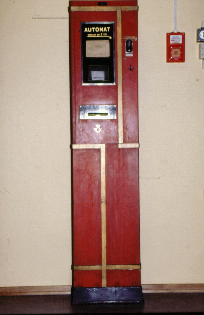 postmuseet, utstilling, gjenstander, 2 øres blankettautomat for postale blanketter