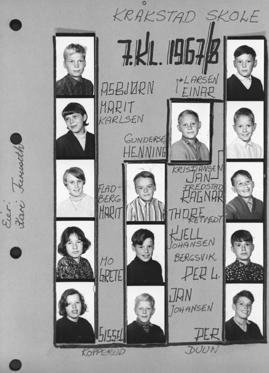 7. klasse 1967/68.
