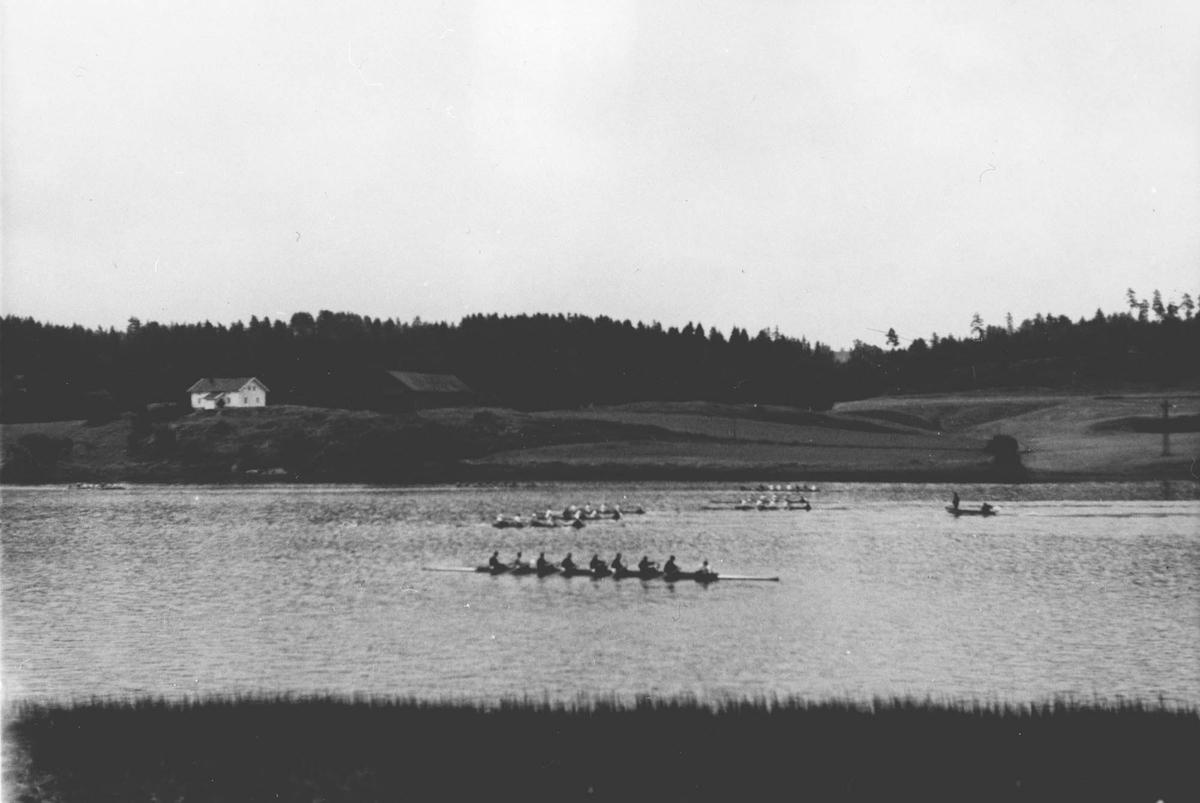 6 åttere på Årungen like ved start (ved Morteberget)