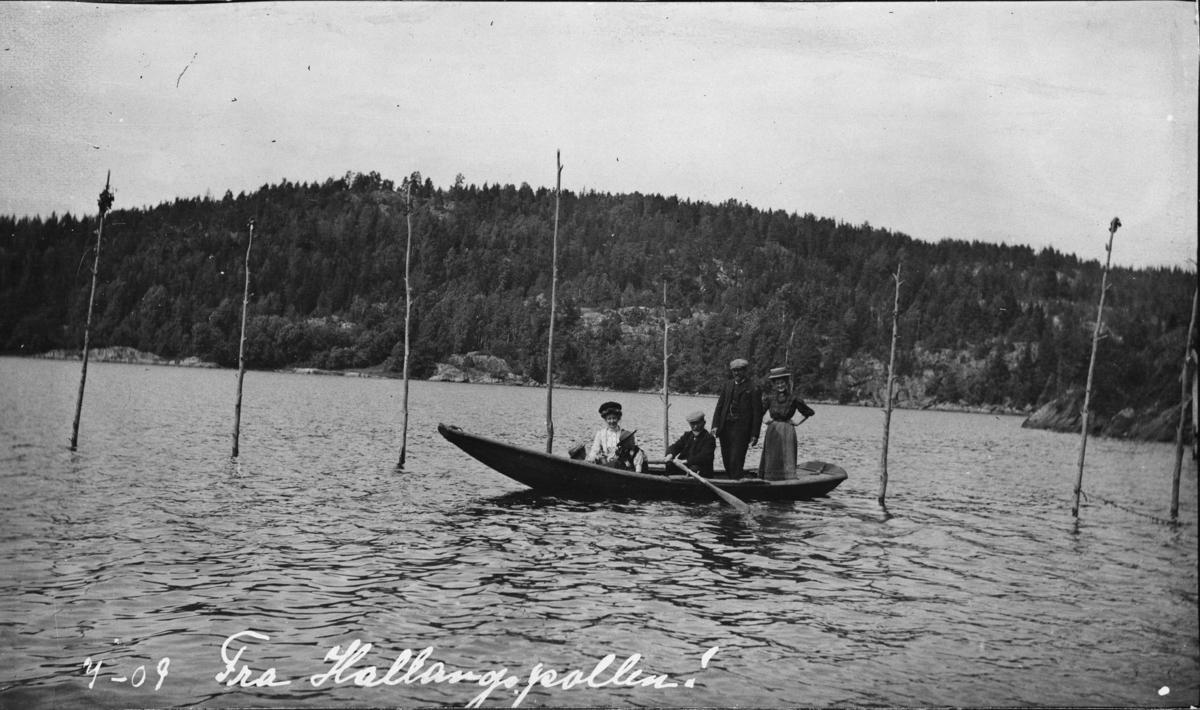 Fra Hallangspollen, robåt, fritid.