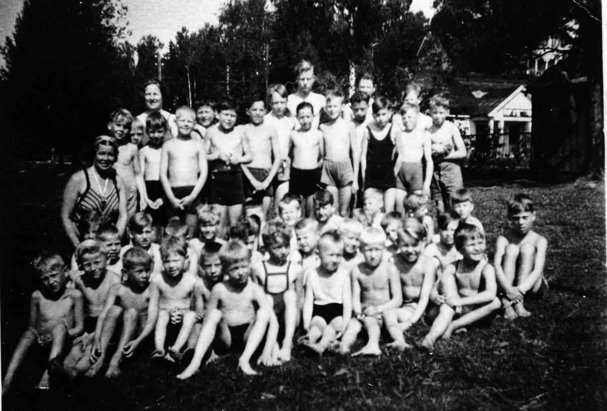 Svømmekurs på Langgrunna.