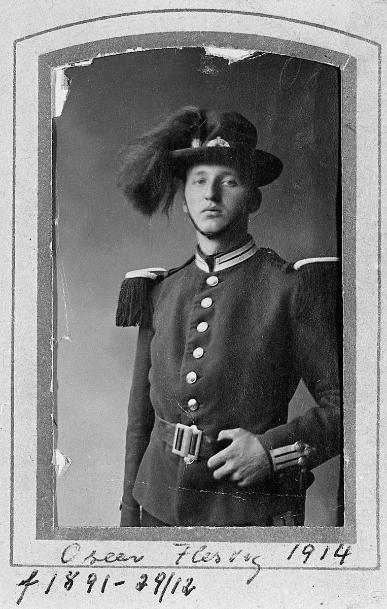 Oscar Flesvig, fdt 1891. Bilde fra 1914