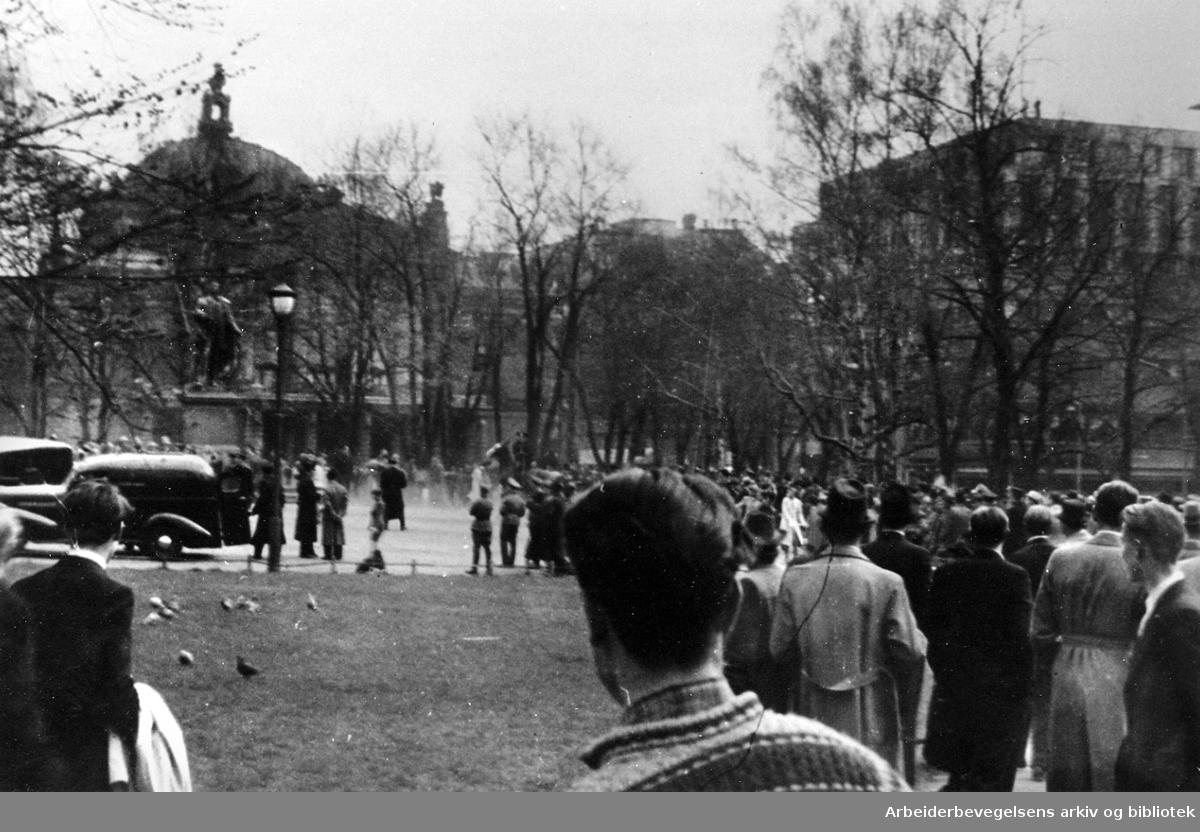 Uroligheter i Studenterlunden, .1943